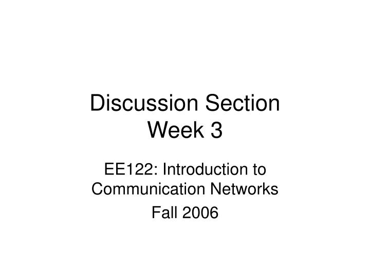 discussion section week 3 n.