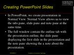 creating powerpoint slides