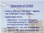 overview of chas6