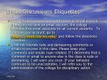 email discussions etiquette