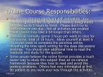 online course responsibilities