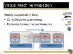 virtual machine migration