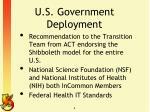 u s government deployment