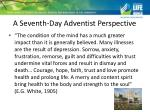 a seventh day adventist perspective