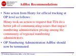 adhoc recommendations