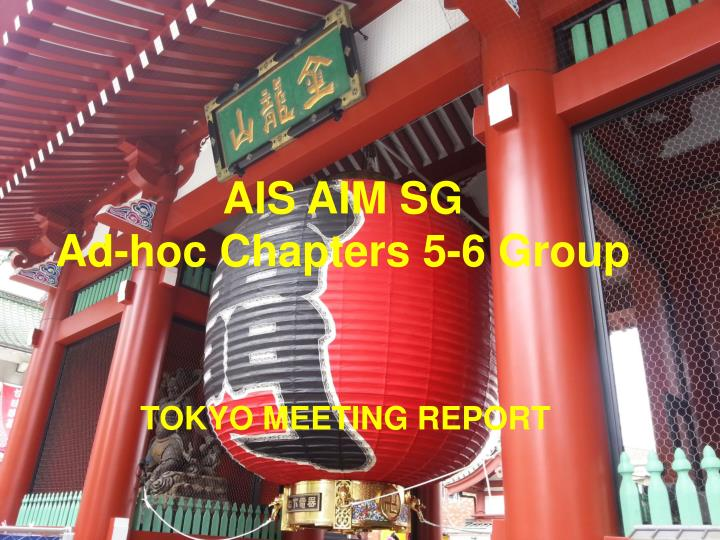 ais aim sg ad hoc chapters 5 6 group n.