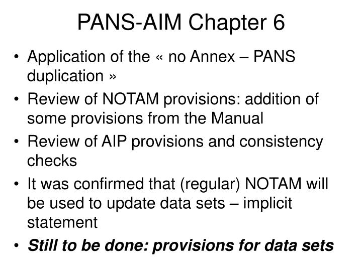 PANS-AIM Chapter 6