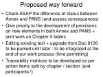 proposed way forward