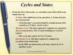 cycles and states
