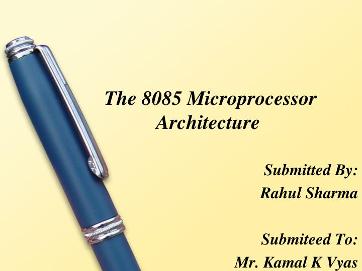 the 8085 microprocessor architecture n.