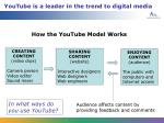 youtube is a leader in the trend to digital media
