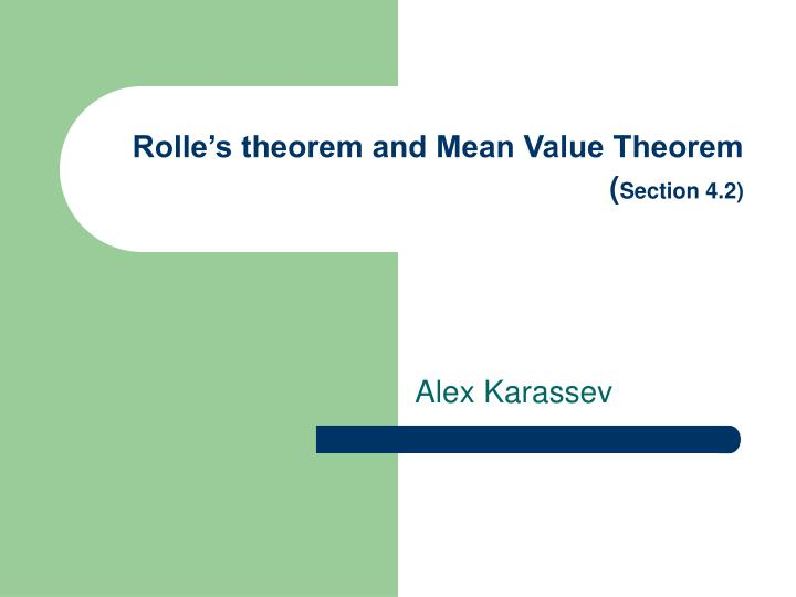 rolle s theorem and mean value theorem section 4 2 n.