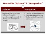 work life balance integration