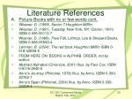 literature references1