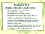 strategies part 1