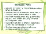 strategies part 3