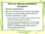 what are effective remediation strategies