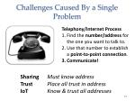 challenges caused by a single problem