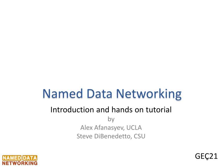 named data networking n.