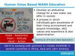 human value based wash education