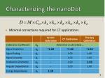 characterizing the nanodot1