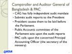 comptroller and auditor general of bangladesh pac