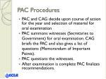 pac procedures