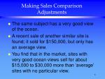making sales comparison adjustments