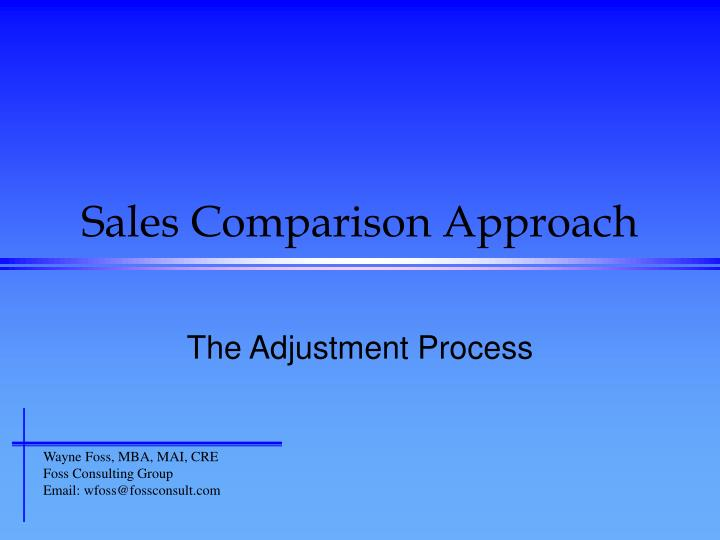 sales comparison approach n.