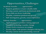 opportunities challenges