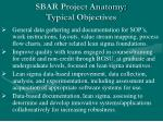 sbar project anatomy typical objectives