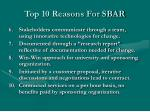 top 10 reasons for sbar1