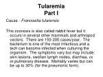 tularemia part i