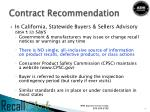 contract recommendation