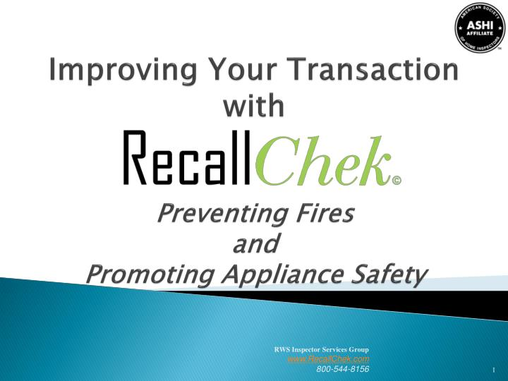 improving your transaction with preventing fires and promoting appliance safety n.