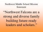 northwest middle school mission statement