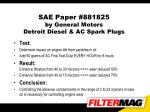 sae paper 881825 by general motors detroit diesel ac spark plugs