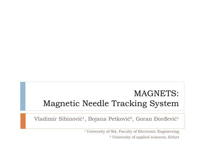 magnets magnetic needle tracking system n.