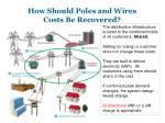 how should poles and wires costs be recovered