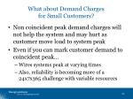 what about demand charges for small customers