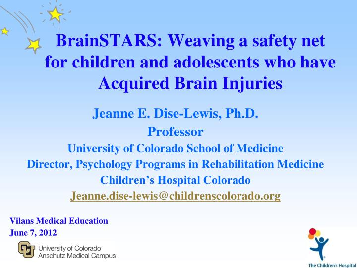 brainstars weaving a safety net for children and adolescents who have acquired brain injuries n.