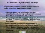 portfolio and organizational strategy