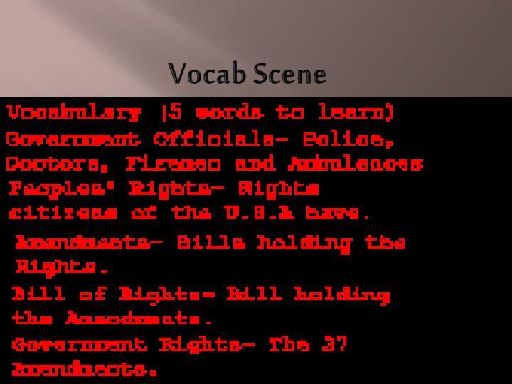 Vocab Scene