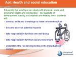 aoi health and social education