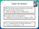 clean air auction