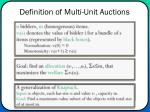 definition of multi unit auctions