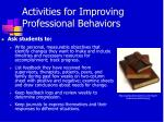 activities for improving professional behaviors2