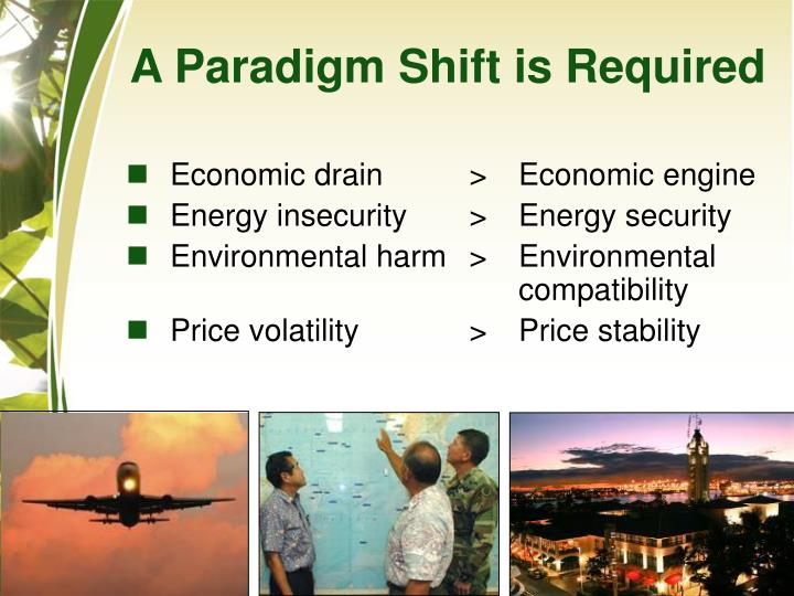 A Paradigm Shift is Required