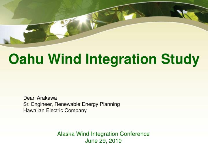 alaska wind integration conference june 29 2010 n.