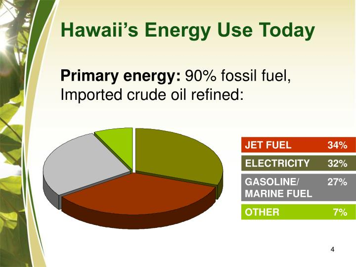 Hawaii's Energy Use Today